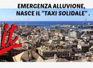 Alluvione #Genova : TAXI GRATIS ALLE PERSONE IN DIFFICOLTA'